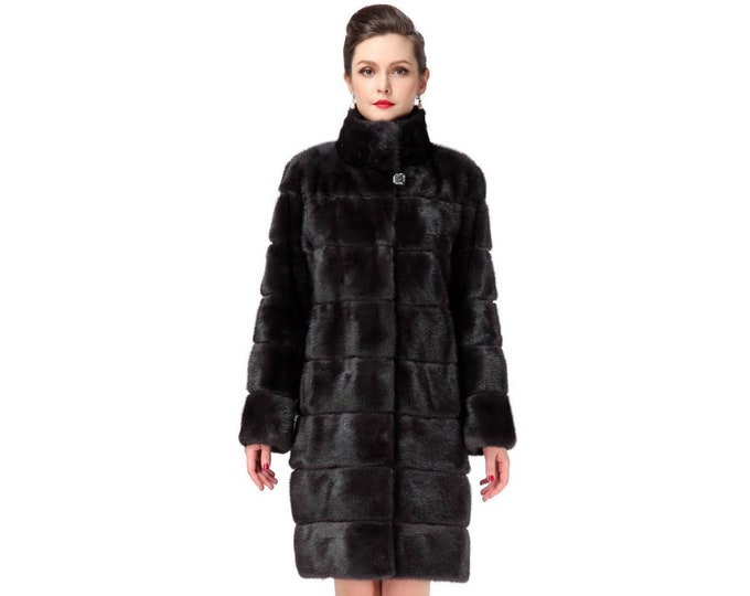Luxury Mink Fur Coat,Fashion Fur Coat F136
