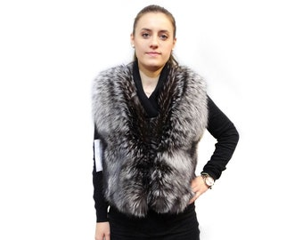 Fashion silver fox vest F417