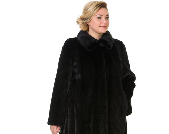 Plus Size Fur Coat,Real Mink Fur Coat F842
