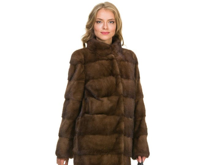 Brown Mink Fur Coat