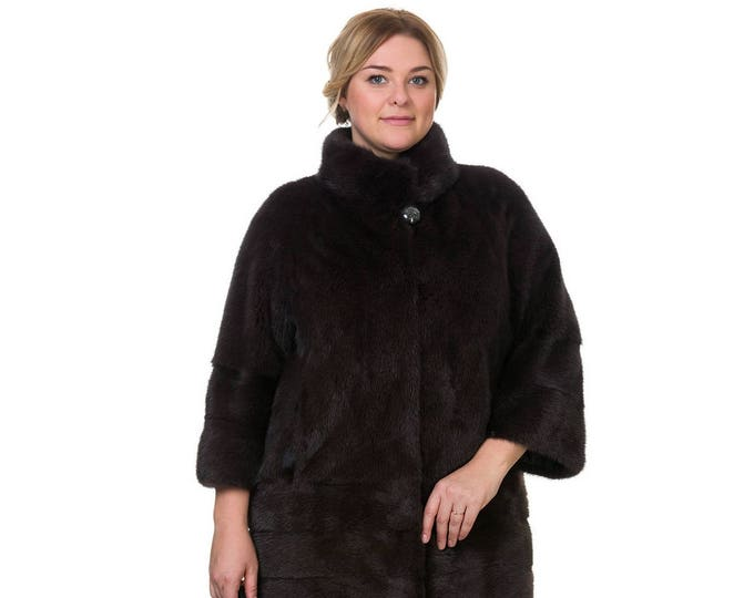Plus Size Fur Coat,Real Mink Fur Coat F841