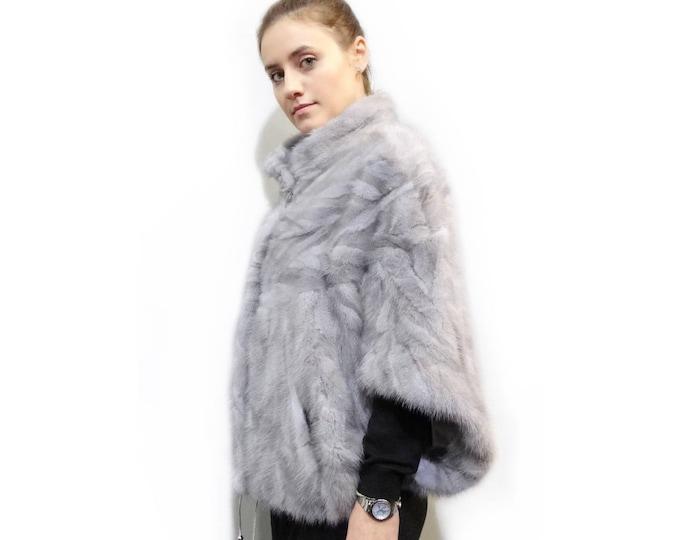 Beautiful Fur Bolero,Winter Gray Fur Cape F295