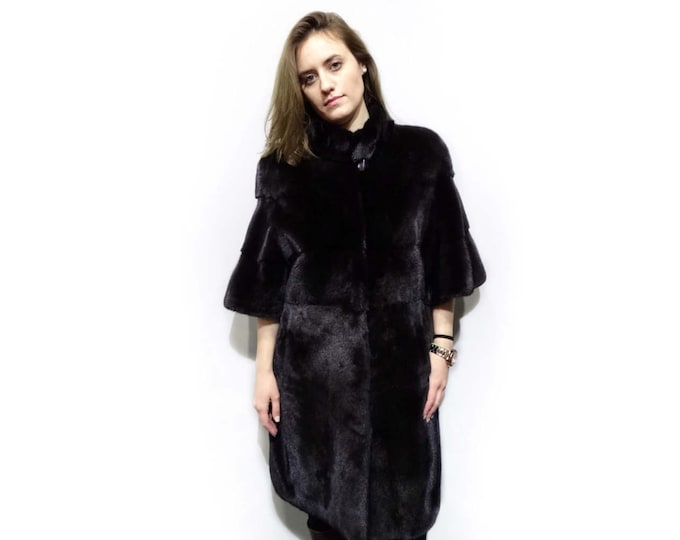 Beautiful Real Mink Fur Coat,Classy Fur Coat