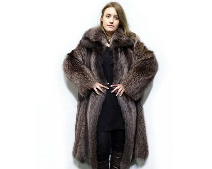 Long Raccoon Fur Coat,Warm Fur Coat F253