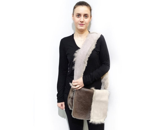 Real Fur Handbag,Mouton shoulder bag F455