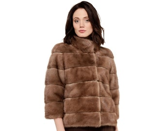Casual brown fur coat very comfy