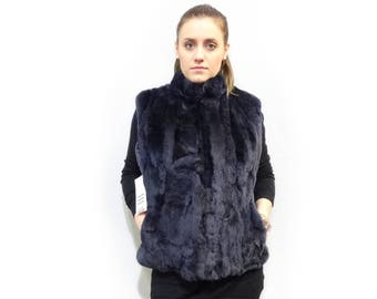 Real fur vest,Real Rex Rabbit Fur Vest F420