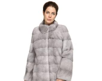 Sapphire Mink Fur Coat F837