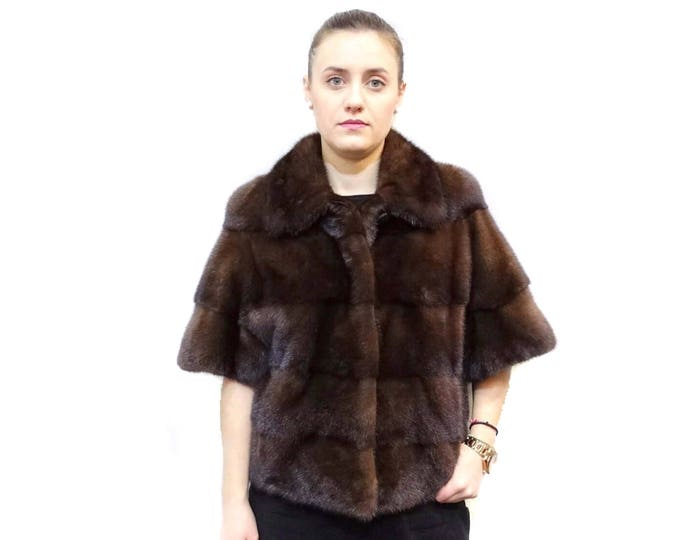 Mink Coat,Wedding Fur,Brown Fur Bolero F364