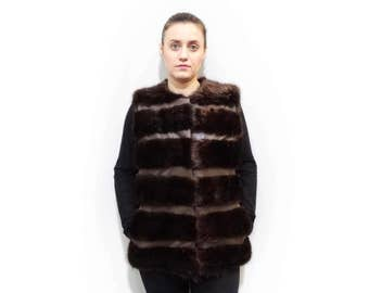 Real Fur Vest,Beaver vest,Woman Fur Vest
