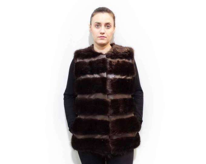 Real Fur Vest,Beaver vest,Woman Fur Vest F528