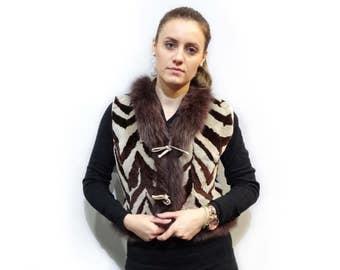 Real Beaver Fur Vest ,Fashion Teenager,Beaver Vest F211