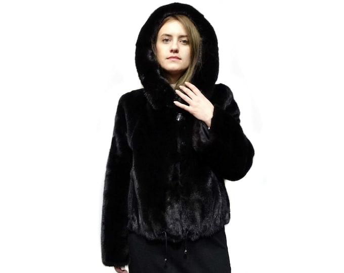 Black Winter Fur Coat,Baloo Coat F272