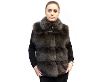 Real Fur Vest,Warm Winter Fur Vest,Fisher Fur Vest F293