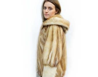 Baloo Hooded Fur Coat,Sheared Fur Jacket F235