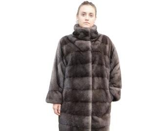 Luxury Plus Size Coat,Long Mink Fur Coat F301