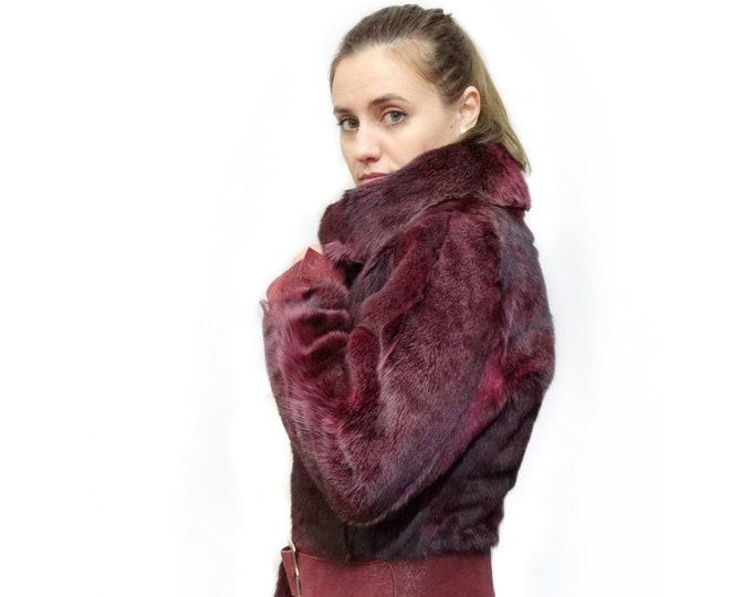 Real Fur Jacket,Ruby Fur Jacket,Leather Jacket F382
