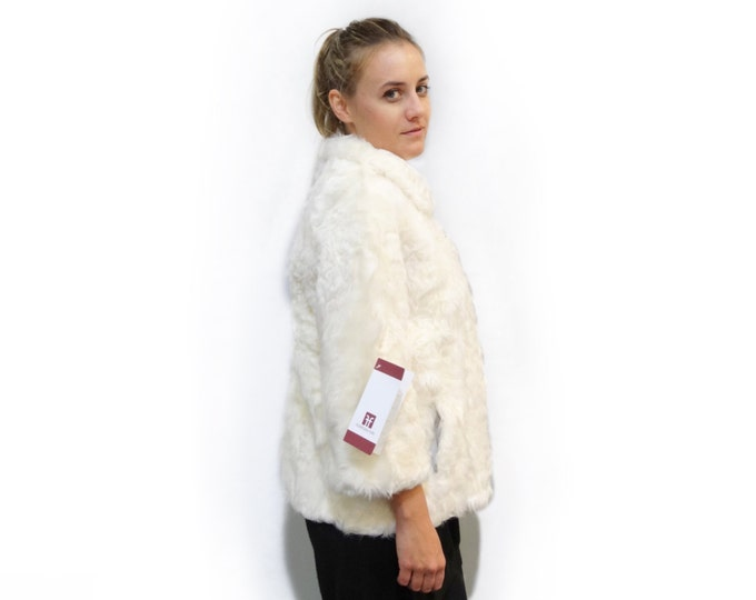 White Lamb Fur Coat,Genuine Fur Jacket,Persian Lamb Skin Fur F306