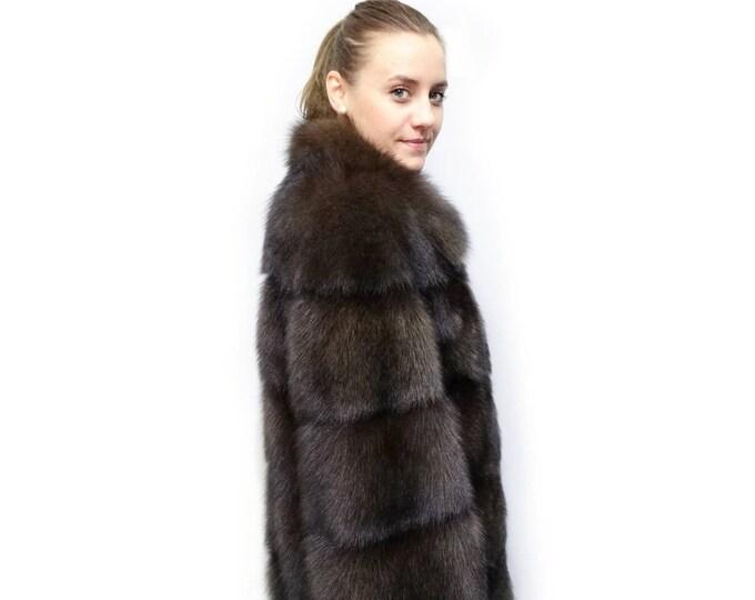 Luxury Fisher Coat,Real Fur Jacket F375