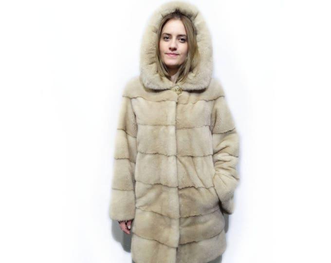 Fur Hooded Jacket,Warm Fur Winter Coat F252