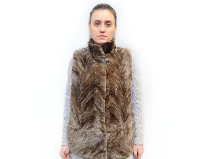 Real Beaver Fur Vest,Sheared Fur Vest F484
