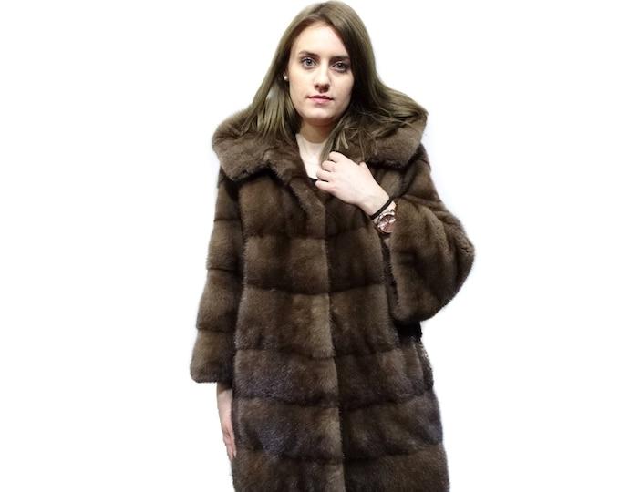 Beautiful Fashioned Fur Coat,Warm Hooded Fur Coat F262