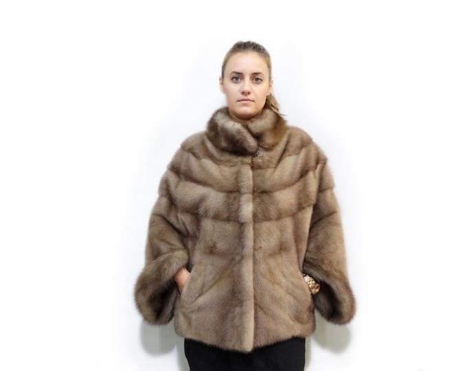 Cozy Winter Clothes,Pastel Mink Fur Coat F304