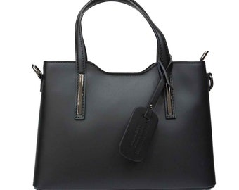 Leather Tote bag gift for her   Leather Handbag with Zipper
