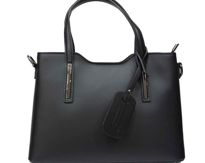 Leather Tote bag gift for her | Leather Handbag with Zipper