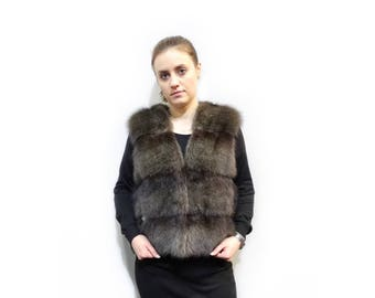 Luxury Fur Vest,Winter Fur Vest,Fisher Fur Vest F290