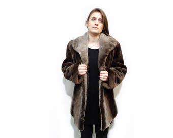 Sheared Beaver Fur Coat,Woman Fur Jacket F333