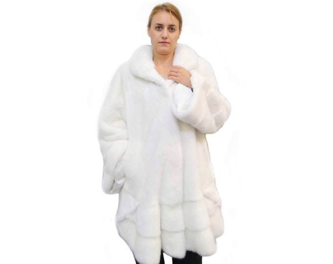 Mink Coat White Swing Coat