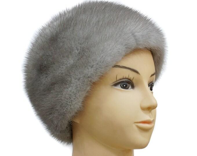 Mink Fur Hat Gift For Her | Women Fur Hat | Real Fur Hat | Warm Hat Gift For Women