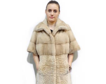 Short Sleeve Coat,Woman Fur Coat,Sheared Fur Coat F209