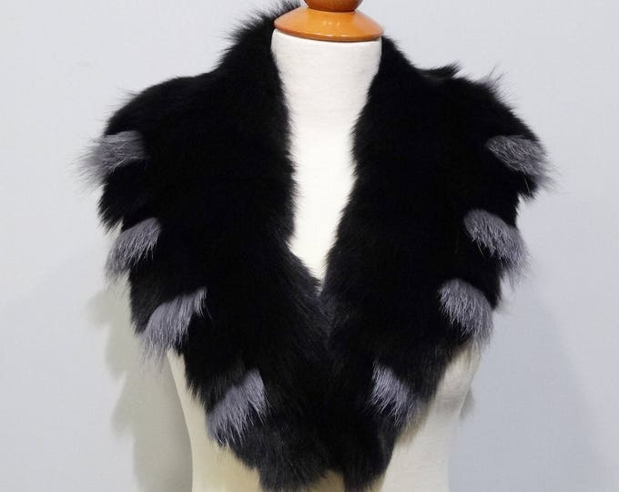 Real Large Fox Fur Collar,Fur Collar,Fur for Leather Jacket F772