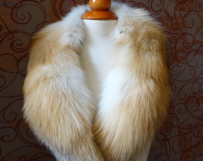 Large RedFox Fox Fur Collar F912