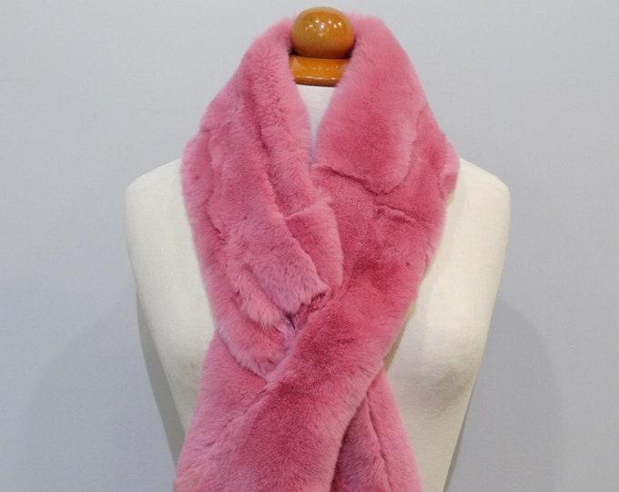 """""""Trendi"""" Real Fur Scarf Rex Rabbit F861"""