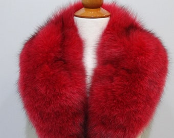 Red Fox Fur Collar for Leather Jacket F775