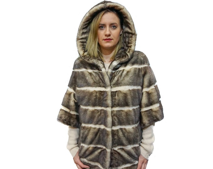 Light Hooded Jacket,Mink Fur Jacket F158
