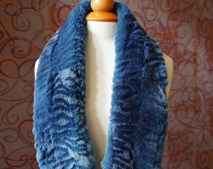"""Trendi"" Real Fur Scarf Rex Rabbit F991"