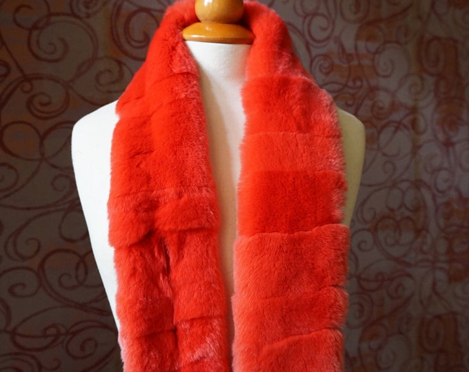 """Trendi"" Real Fur Scarf Rex Rabbit F859"