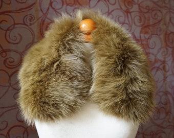 Fox YellowGold Fur Collar F998