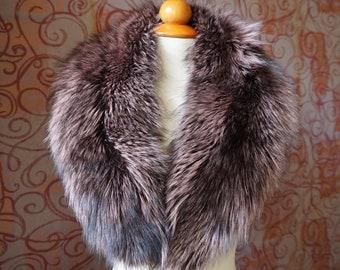 Large PinkSilver Fox Fur Collar F1000