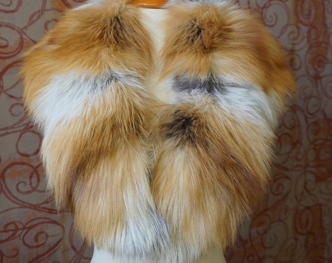Large Gold Fox Fur Collar F975