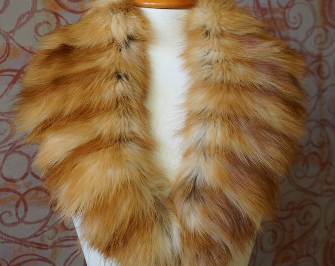 Large Gold Fox Fur Collar F978