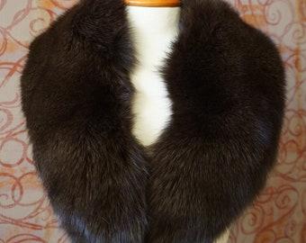 Large Brown Fox Fur Collar F976