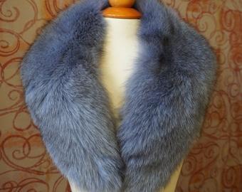 Large GreyBlue Fox Fur Collar F980