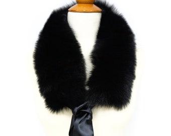 Fox Fur Collar Jacket - Women Detachable Scarf