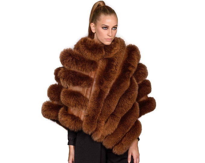 Luxury Fox Fur Cape F901