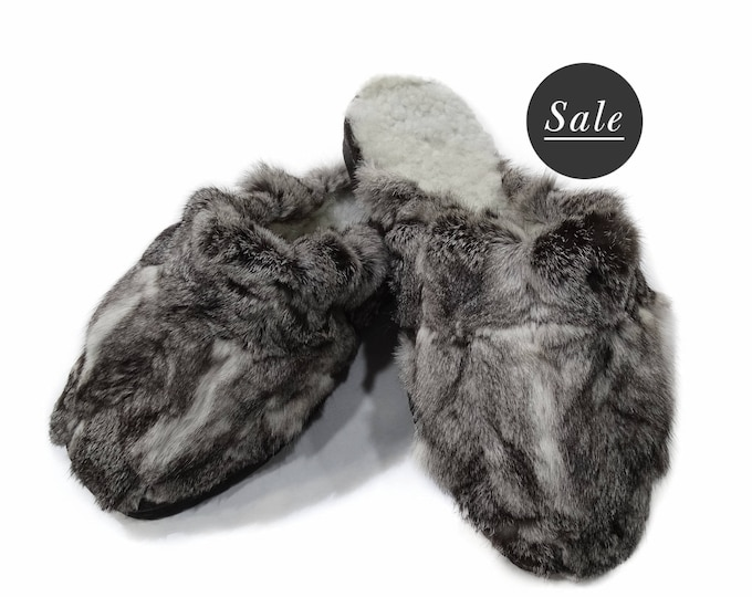Rabbit Fur Slippers,Fur Slippers F754
